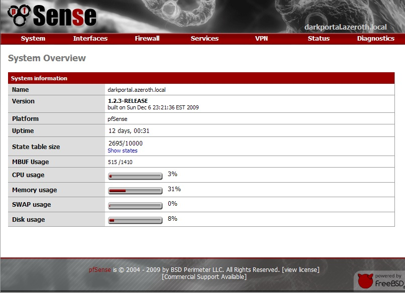 pfsense screenshot